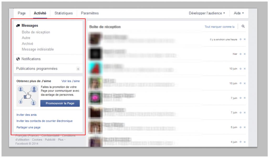 activité nouveaute facebook