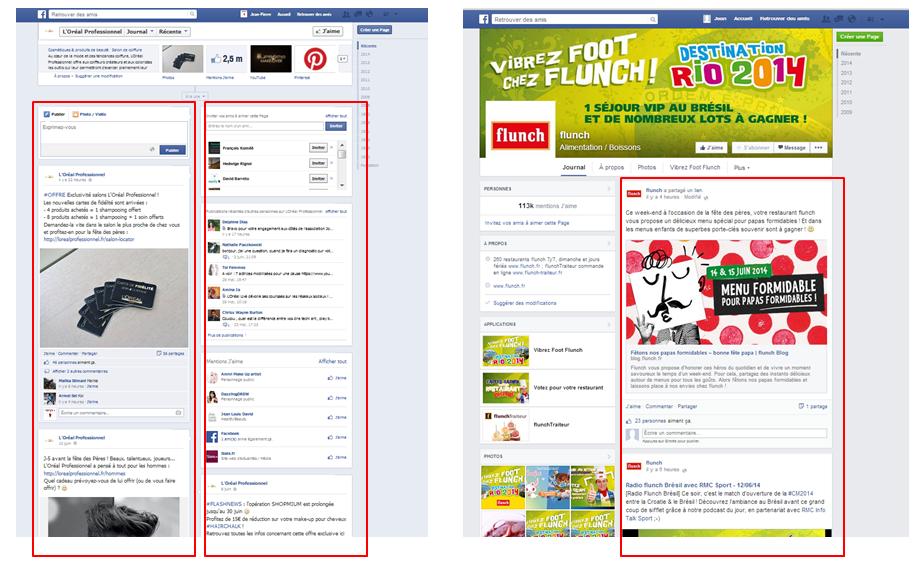 changement colonne page facebook