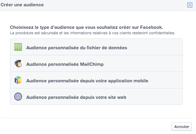 type audience remarketing facebook