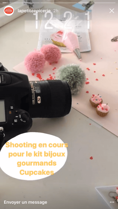 La Petite Epicerie shooting sur Instagram Stories