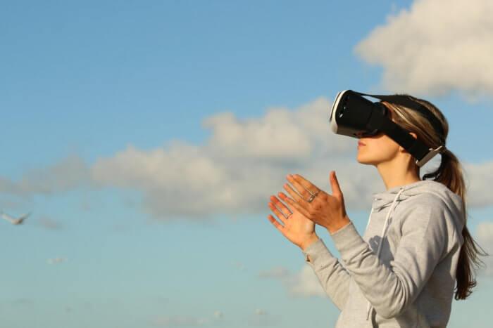 Visuel casque de réalité virtuelle