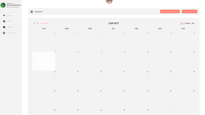 Visuel calendrier de publication Komunity Booster