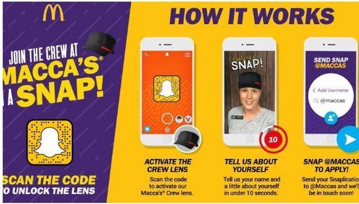 Illustration McDonald's Snapchat et la marque employeur
