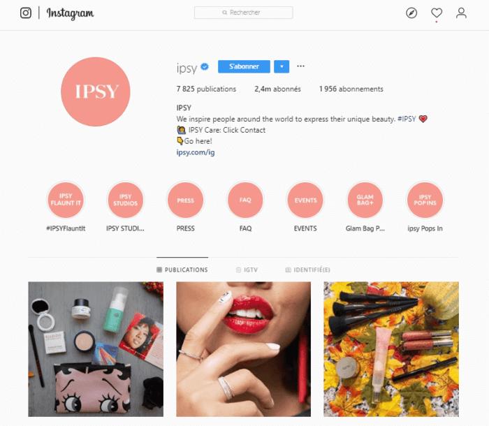 instagram ipsy